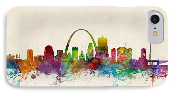 St Louis Missouri Skyline IPhone Case by Michael Tompsett