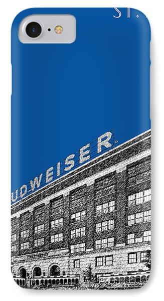 St Louis Skyline Budweiser Brewery - Royal Blue IPhone Case