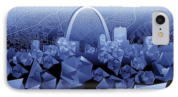 St Louis Skyline Geometric2 IPhone Case