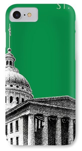 St Louis Skyline Old Courthouse - Forest IPhone Case