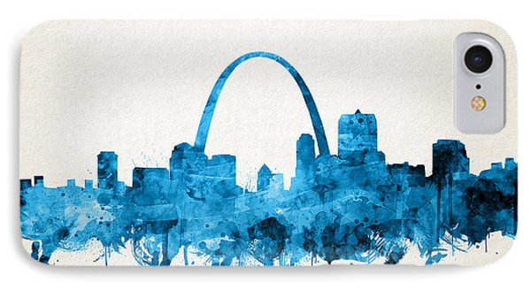 St Louis Skyline Watercolor IPhone Case