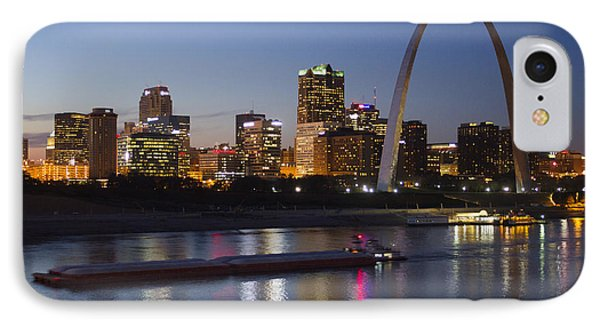 St Louis Skyline With Barges IPhone Case by Garry McMichael