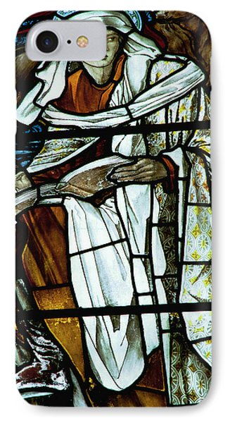 St Luke In Stained Glass Phone Case by Philip Ralley