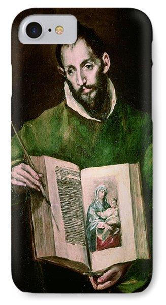 Saint Luke  IPhone Case by El Greco