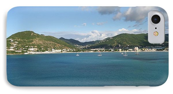 IPhone Case featuring the photograph St Maarten At A Distance by Jean Marie Maggi