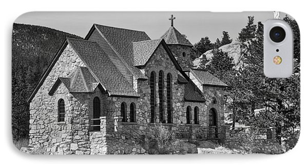 St Malo Chapel On The Rock Colorado Bw IPhone Case by James BO  Insogna