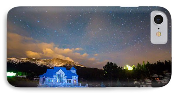 St Malos Chapel On The Rocks Starry Night View  IPhone Case by James BO  Insogna