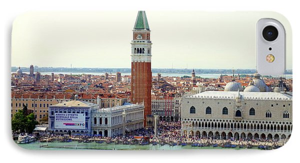St. Mark Square IPhone Case by Valentino Visentini