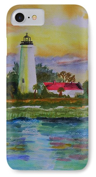 St. Marks Lighthouse-2 Phone Case by Warren Thompson