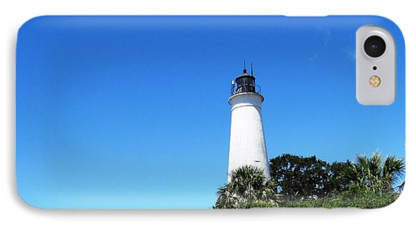 St. Marks Lighthouse High Noon IPhone Case by Ecinja