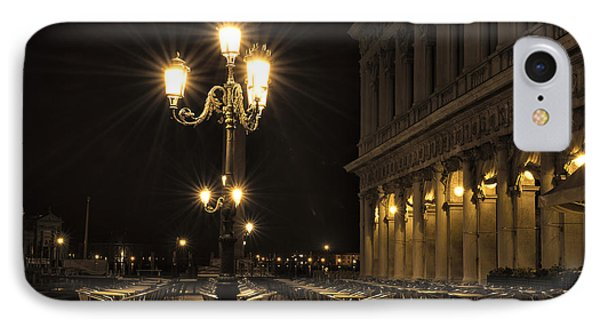 St Mark's Square At Night IPhone Case by Marion Galt