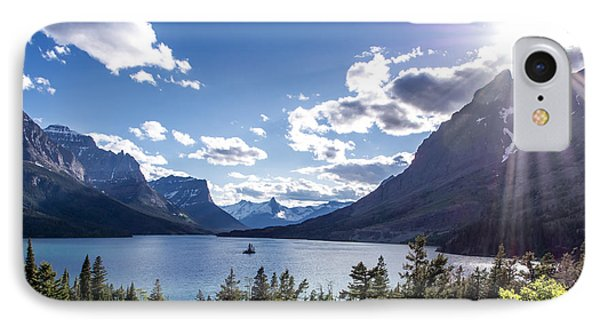 St. Mary Lake IPhone Case by Aaron Aldrich