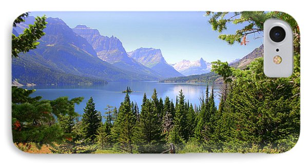 St. Mary Lake IPhone Case by Bob Hislop