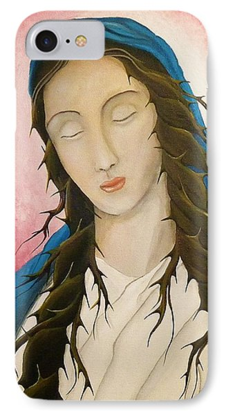 IPhone Case featuring the painting St. Mary's Calvary by Edwin Alverio
