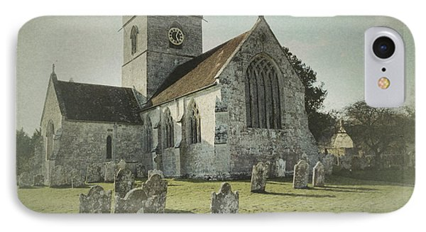 St Marys Church Dinton And Churchyard IPhone Case by John Colley