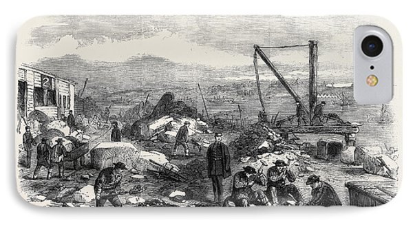 St. Marys Island The Convicts At Labour Chatham Prison 1861 IPhone Case by English School