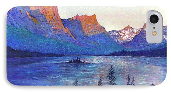 St. Mary's Lake Montana IPhone Case by Lou Ann Bagnall