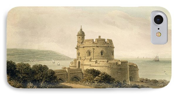 St Mawes Castle IPhone Case by John Chessell Buckler