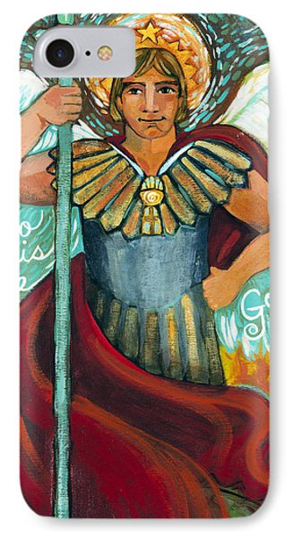 St. Michael The Archangel IPhone Case by Jen Norton