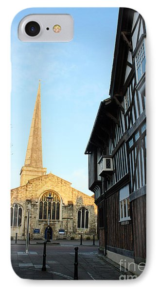 St Michael's Church And Tudor House Southampton Phone Case by Terri Waters
