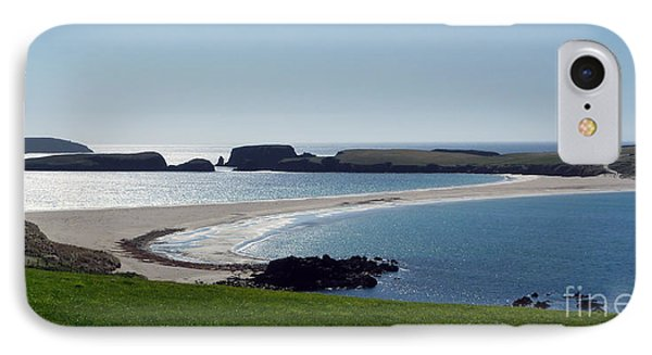 St Ninian's Isle Shetland IPhone Case by Lynn Bolt