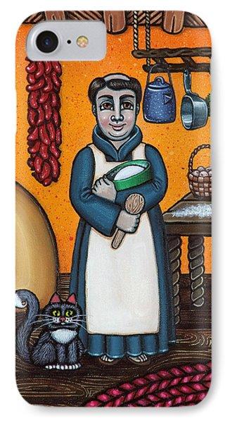 St. Pascual Making Bread Phone Case by Victoria De Almeida