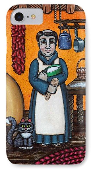 St. Pascual Making Bread IPhone Case by Victoria De Almeida