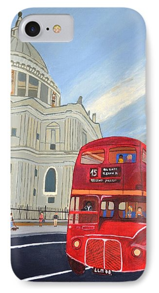 St. Paul Cathedral And London Bus Phone Case by Magdalena Frohnsdorff
