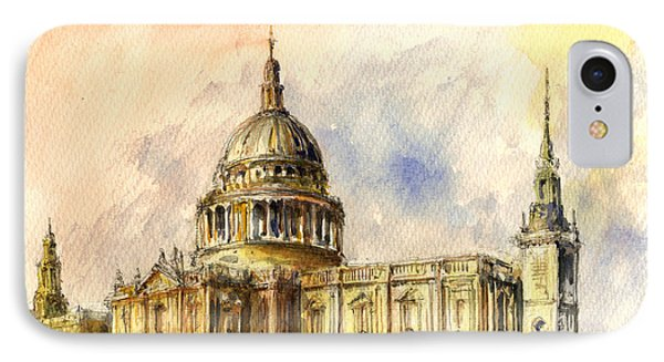 St Paul Cathedral IPhone Case by Juan  Bosco