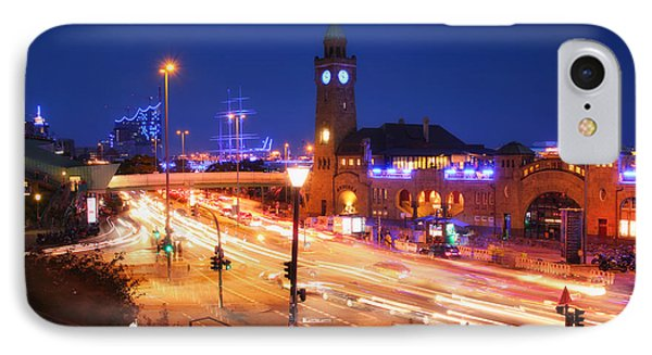 St. Pauli Landing Stages At Night IPhone Case
