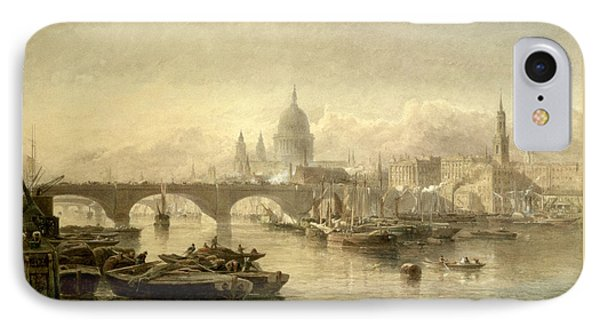 St. Pauls Cathedral And London Bridge IPhone Case by Edward Angelo Goodall