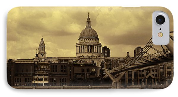 St Paul's Cathedral And Millennium Bridge London IPhone Case by Nicky Jameson