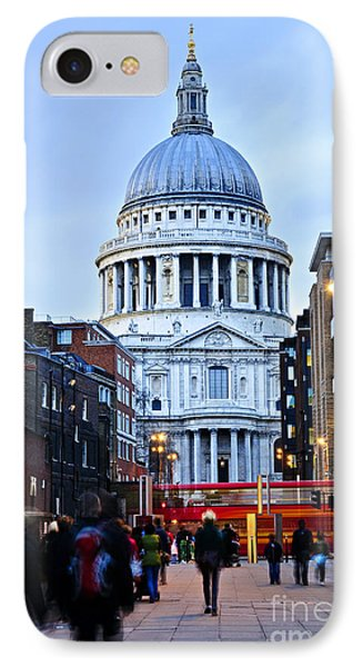 St. Paul's Cathedral At Dusk Phone Case by Elena Elisseeva