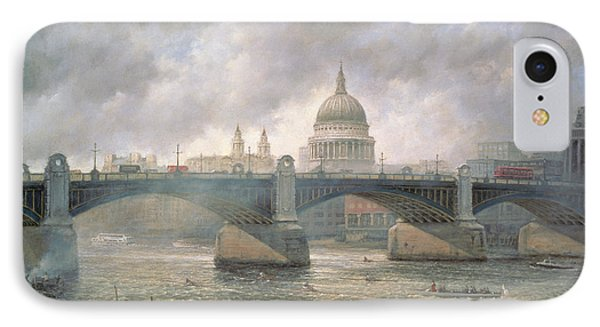 St. Paul's Cathedral From The Southwark Bank Phone Case by Richard Willis