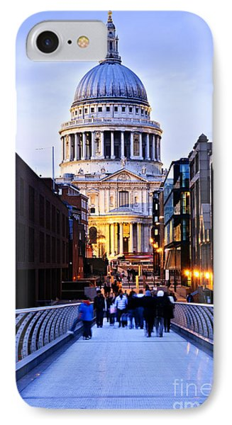 St. Paul's Cathedral London At Dusk Phone Case by Elena Elisseeva