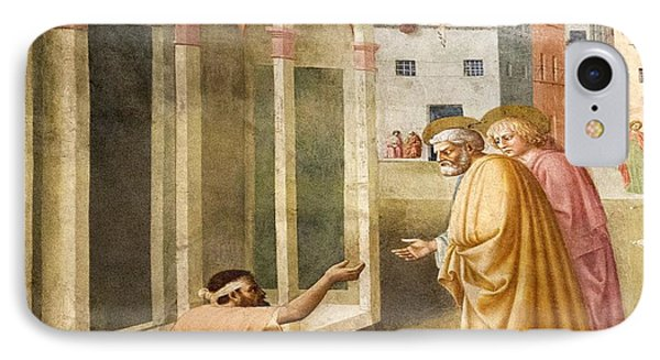 St. Peter Healing The Cripple. IPhone Case by Sheila Terry