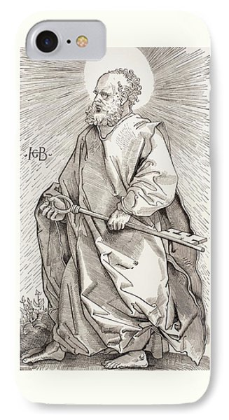 St Peter Holding The Keys Of The Kingdom Of Heaven IPhone Case by French School