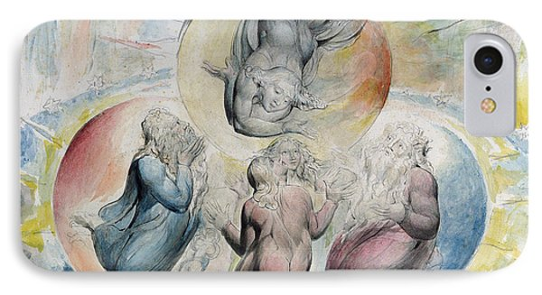 St. Peter St. James Beatrice And Dante IPhone Case by William Blake