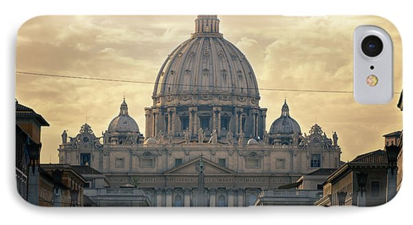 St Peter's Afternoon Glow Phone Case by Joan Carroll