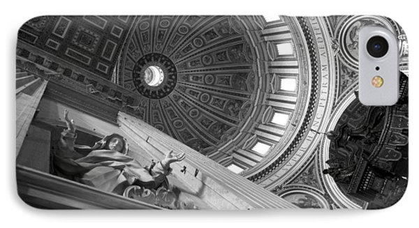 St Peter's Basilica Bw Phone Case by Chevy Fleet