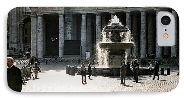 Fountain St. Peter's Square IPhone Case by Kim Lessel
