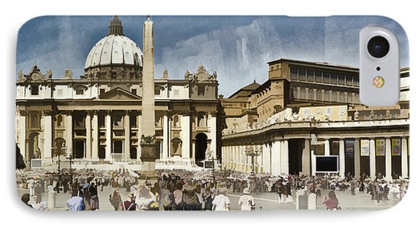 St Peters Square - Vatican Phone Case by Jon Berghoff