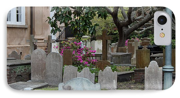 St. Philips Cemetery - French Quarter Charleston IPhone Case by Suzanne Gaff