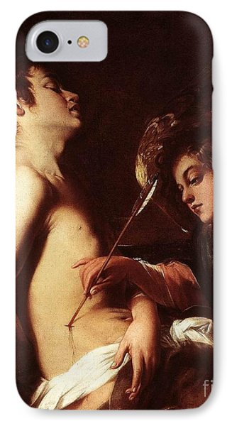 St Sebastian Healed By An Angel IPhone Case by Celestial Images