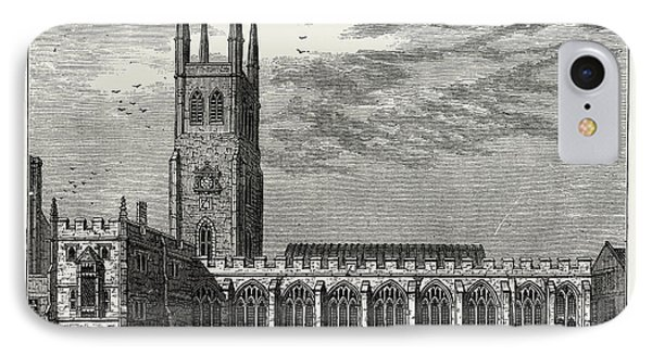 St. Sepulchres Church In 1737 IPhone Case