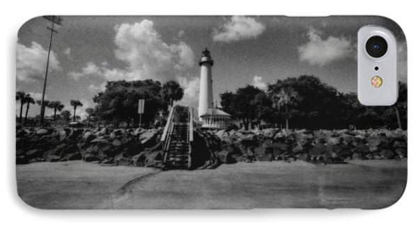 St Simmon's Lighthouse 2 IPhone Case by J Riley Johnson