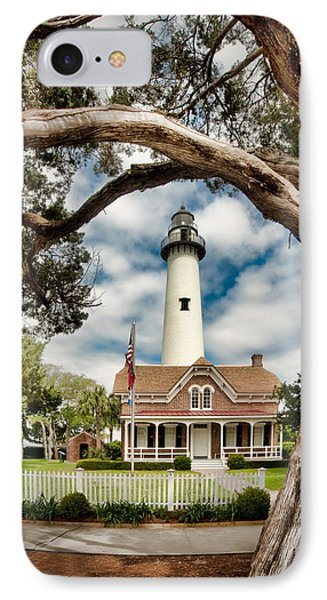 St. Simons Island Lighthouse  IPhone Case by Brent Craft
