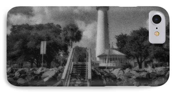 St. Simon's Lighthouse 3 IPhone Case by J Riley Johnson