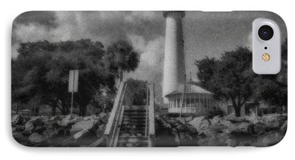 St. Simon's Lighthouse 3 IPhone Case by J Riley Johnson
