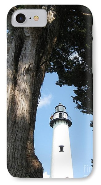 St. Simon's Lighthouse IPhone Case by Gretchen Allen